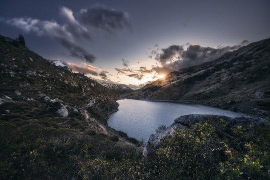 Lake Partnun taken in the Alps of Switzerland.