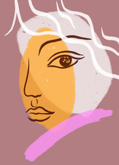 abstract woman face. fashion illustration