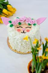 Obraz Wielkanocna owieczka - fototapety do salonu