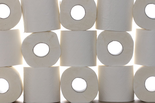 Toilet paper rolls background image.