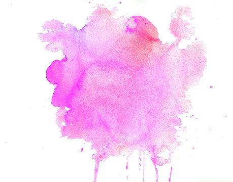 Watercolor texture of purple stains
