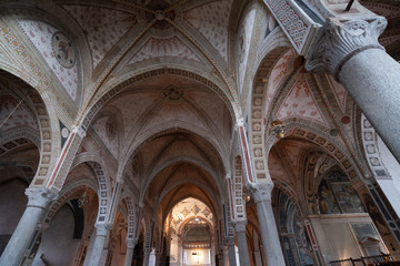 Wall Mural - Church of Santa Maria delle Grazie in Milan, Italy. Interior