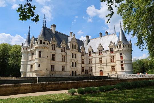 Châteaux de la Loire, château d'Azay-le-Rideau, en Indre-et-Loire (France)