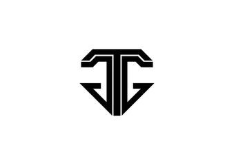 Abstract Monogram Logo Design on White Background