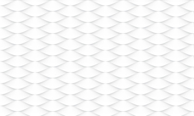 Abstract white fish skin pattern background texture vector illustration. Wall mural