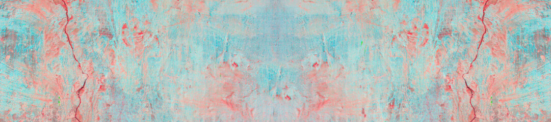 Old concrete wall covered with pastel pale colorful paint. Fototapete