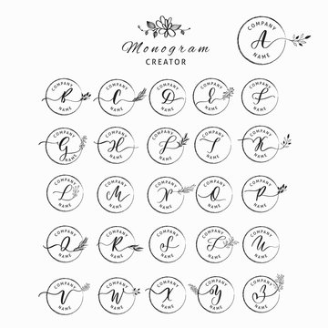 Wedding monogram and letter logo creator.