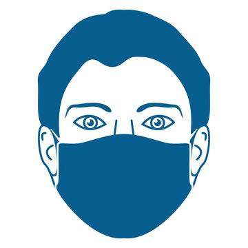Gesichtsmaske - persönliche Schutzausrüstung (PSA)