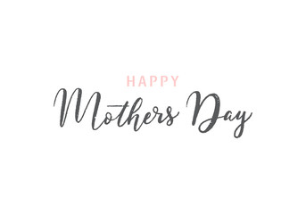 Happy Mothers day greeting card on white background