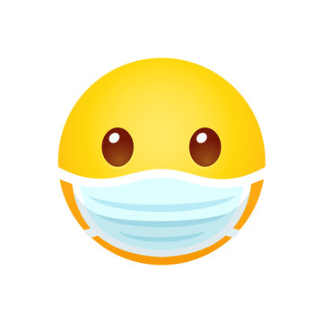 Emoji in face mask