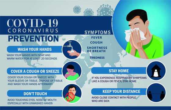 Coronavirus COVID-19 preventions infographic. preventions methods infographics.