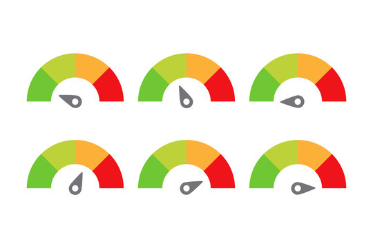 scale meter score level icon feedback vector