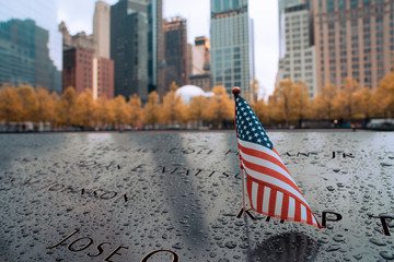 Wall Mural - Memorial at Ground Zero Manhattan for September 11 Terrorist Attack