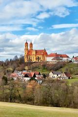 Fototapete - Wallfahrtskirche Schönenberg, Ellwangen - Jagst, Baden-Württemberg
