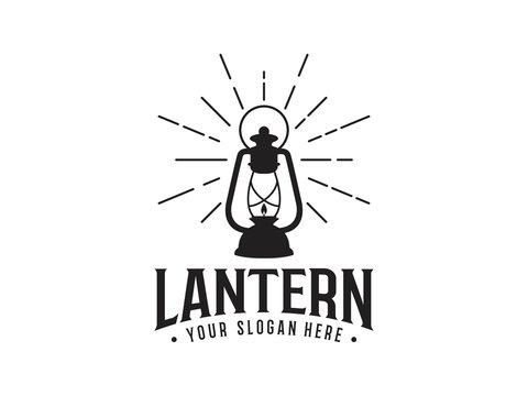 abstract lantern vintage logo template vector