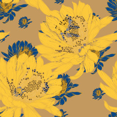 Beautiful seamless pattern with floral background.