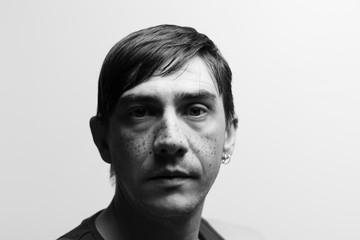 portrait homme visage noir et blanc  Fototapete