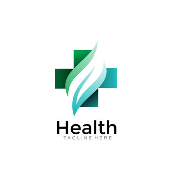 modern health medical logo. simple icon illustration vector