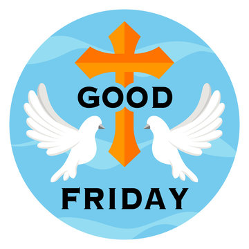 Illustration of good friday with christian symbol which can be used for landing pages, websites and mobile apps