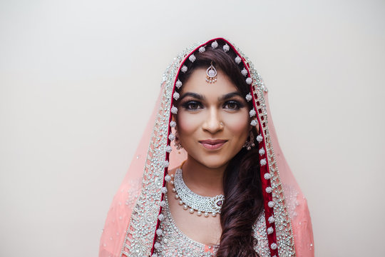 Close-up Of Beautiful Young Indian Bride