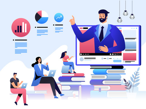 Online education, staff training, specialization