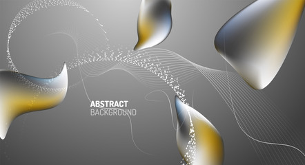 Fototapete - Fluid liquid color gradient background design. Vector illustration