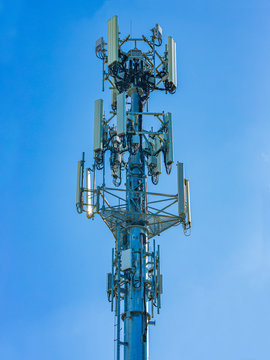 A mobile telecommunication cell tower for wireless internet connection
