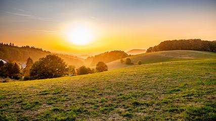 Fototapeta Scenic View Of Field Against Sky During Sunset