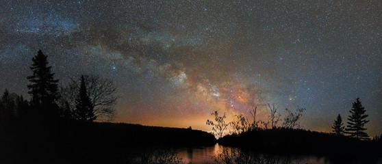 Fototapeta Scenic View Of Lake Against Sky At Night