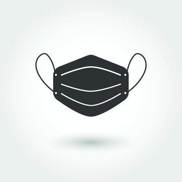 Safety breathing masks. Mask icon vector illustration.