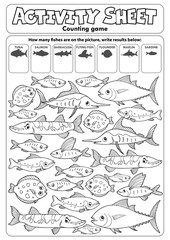 Wall Murals For Kids Activity sheet counting game topic 3