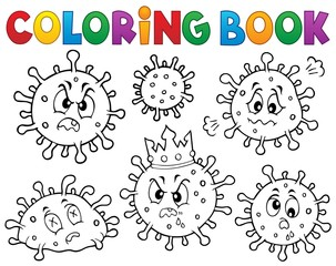 Poster For Kids Coloring book viruses set 1