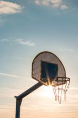 basketball hoop on beach