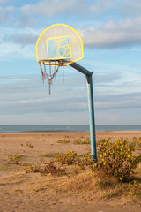 basketball court on beach