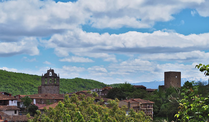 Medieval town and spectacular landscapes