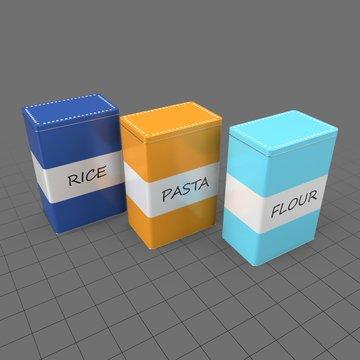Metal food boxes
