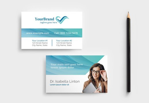 Business Card Layout for Medical Professionals