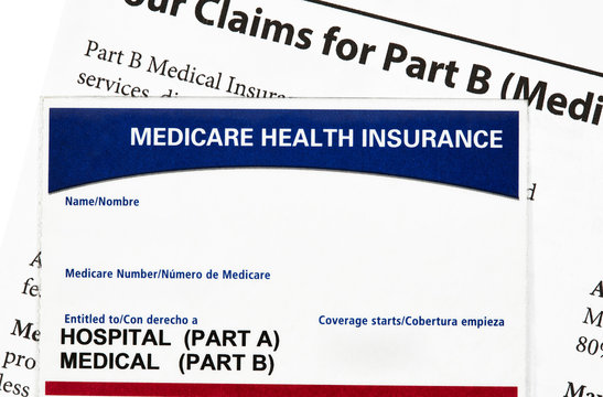 Medicare Health Insurance Card with Claims Statement