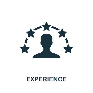 Experience icon. Simple element from consulting collection. Filled Experience icon for templates, infographics and more
