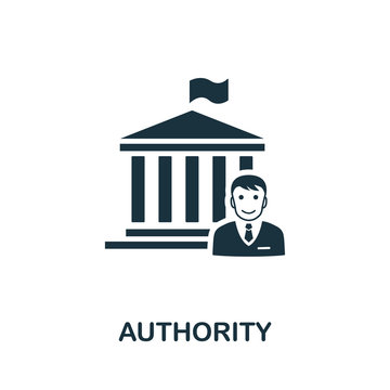Authority icon. Simple element from regulation collection. Filled Authority icon for templates, infographics and more