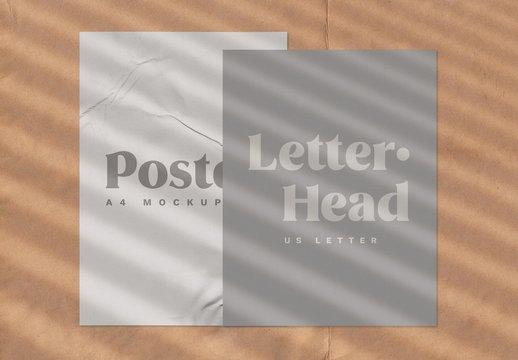 Shadow Overlay on Posters Mockup Set