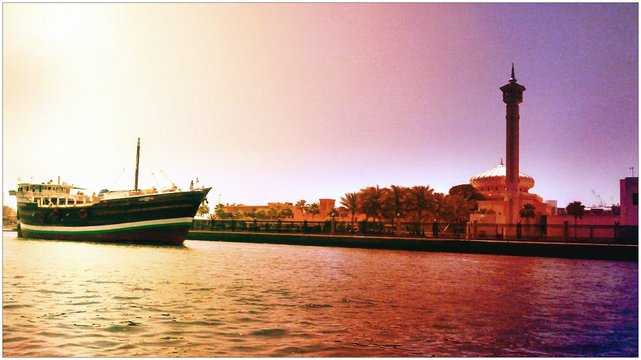 Large Ship On River