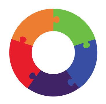 Five Part Circle Puzzle