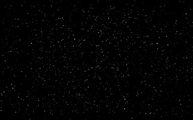 Space background. Dark infinite universe with shining stars and constellations. Starry cosmos. Realistic stardust wallpaper. Black night sky and milky way. Vector illustration