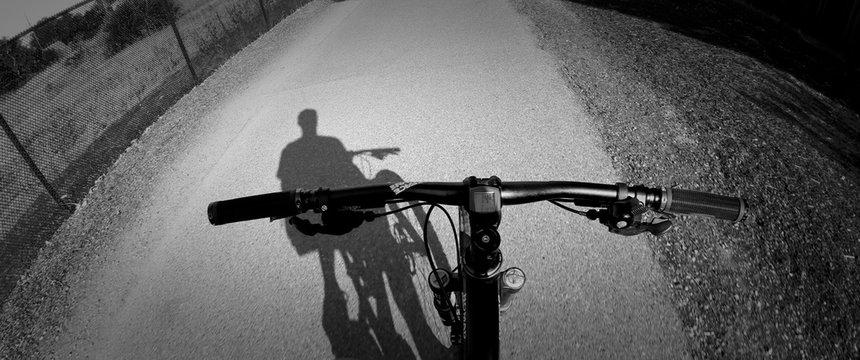 Close-up Bicycle Handlebar