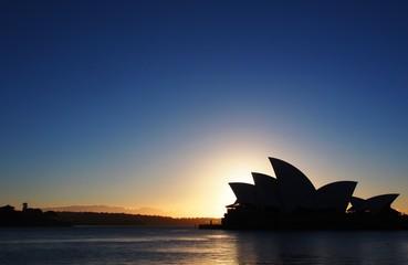 Fototapeta Silhouette Of Sidney Opera House