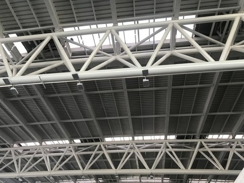 Prefabricated Structural rooftop Supports for the Thermal insulation sheet to control the indoor temperature for an international Airport at chennai India