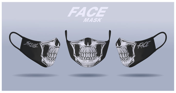 face mask design template, dust protection ,fashion mask.