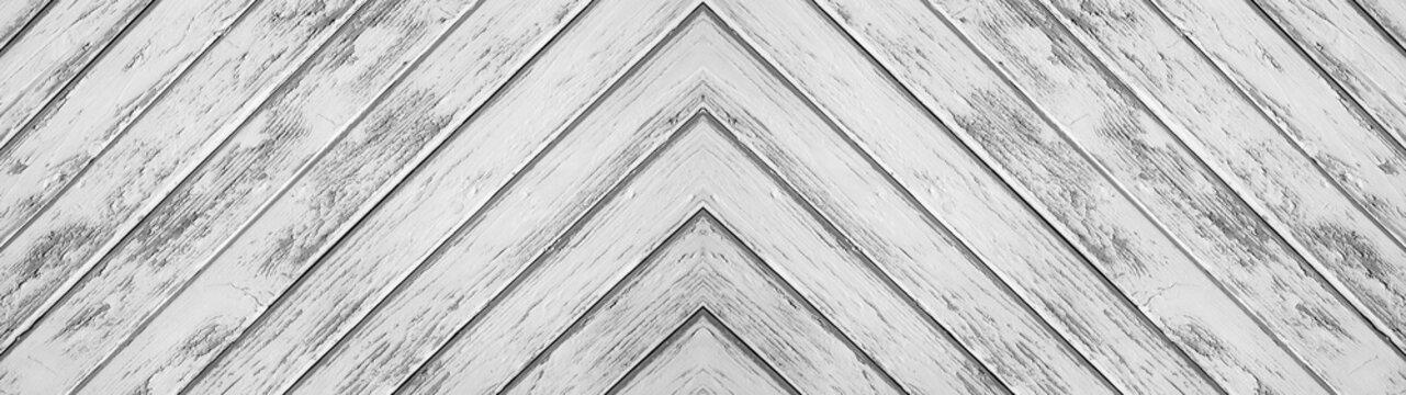 White gray wooden pattern herringbone texture background banner panorama long