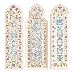 Stained glass windows on the white